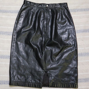 TANNERY WEST Vintage Leather Skirt